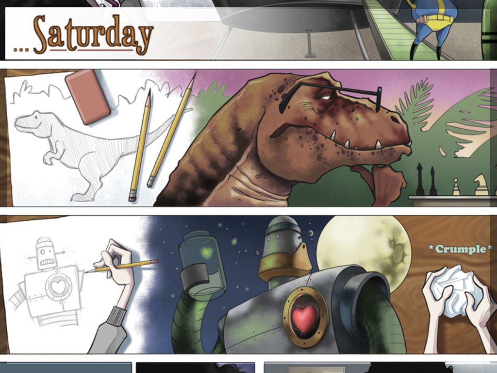 Saturday: Dinosaurs, Robots, and Octopi.'s video poster