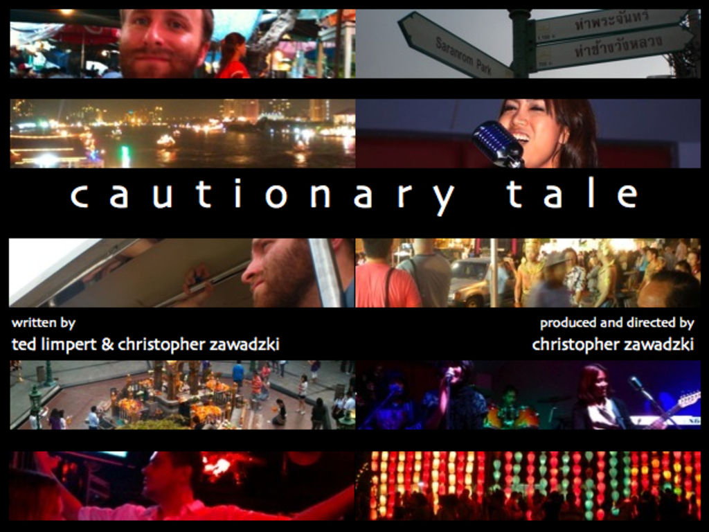 Cautionary Tale's video poster