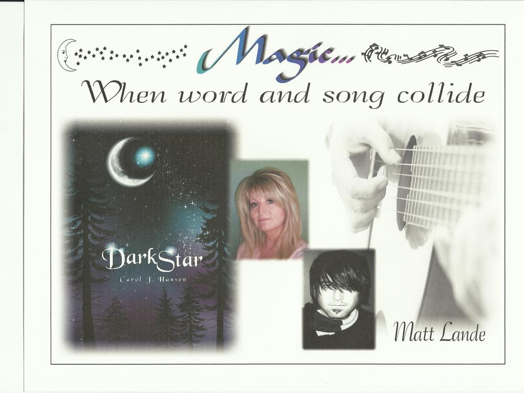 Author Carol Hansen/Musician Matt Lande merge in word & song's video poster