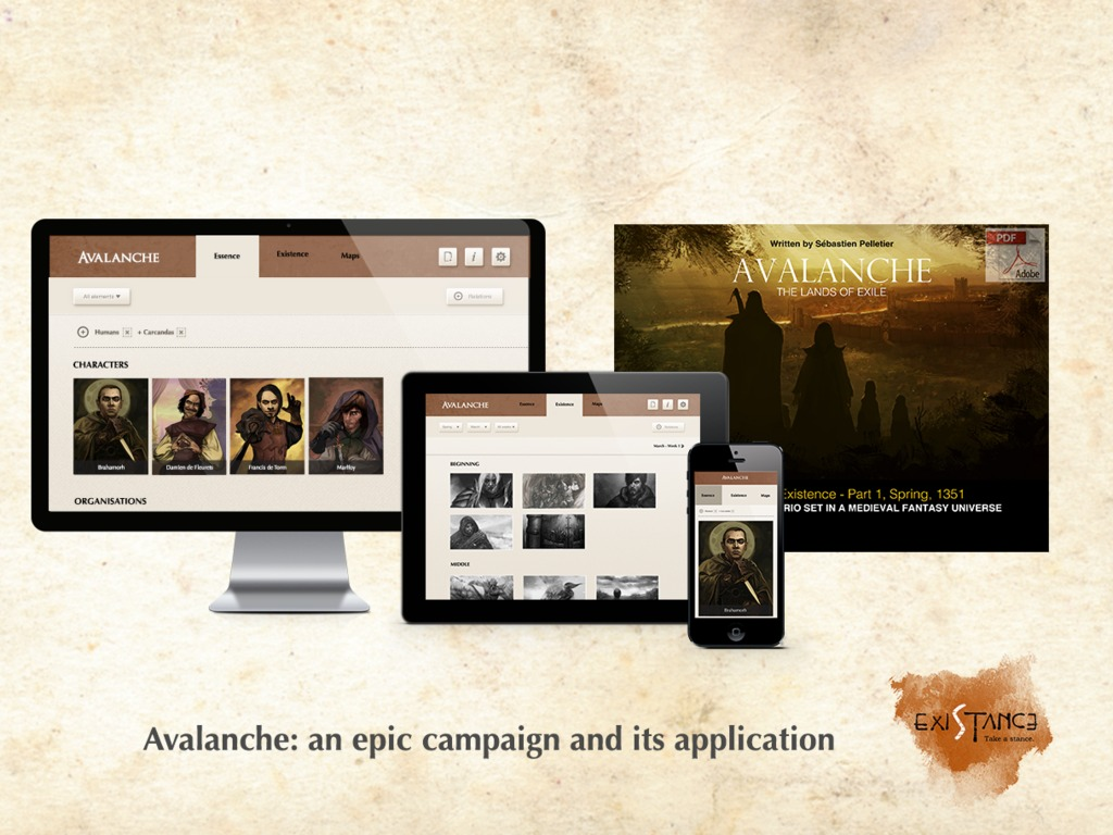 Avalanche: an epic campaign and its website's video poster