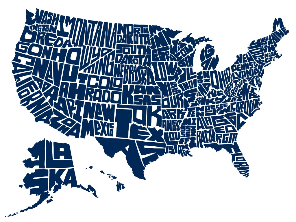 Stately Type - Hand-lettered US Map Prints & T-shirts's video poster