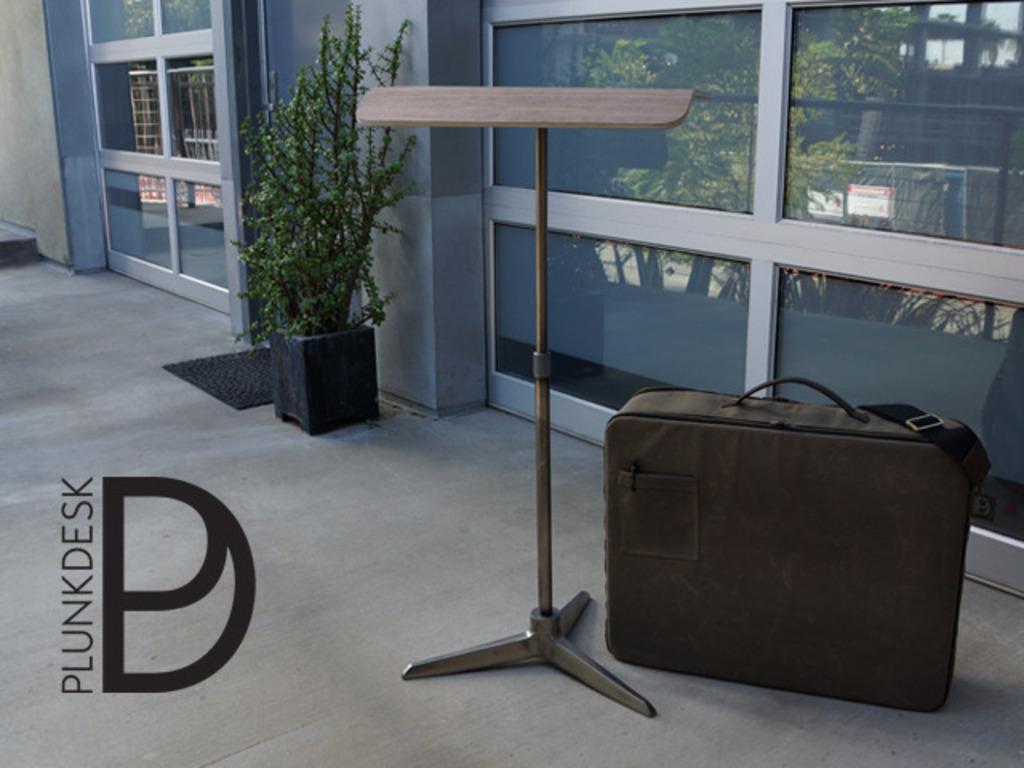 Plunk Desk - Portable Standing Desk with Custom Bag's video poster