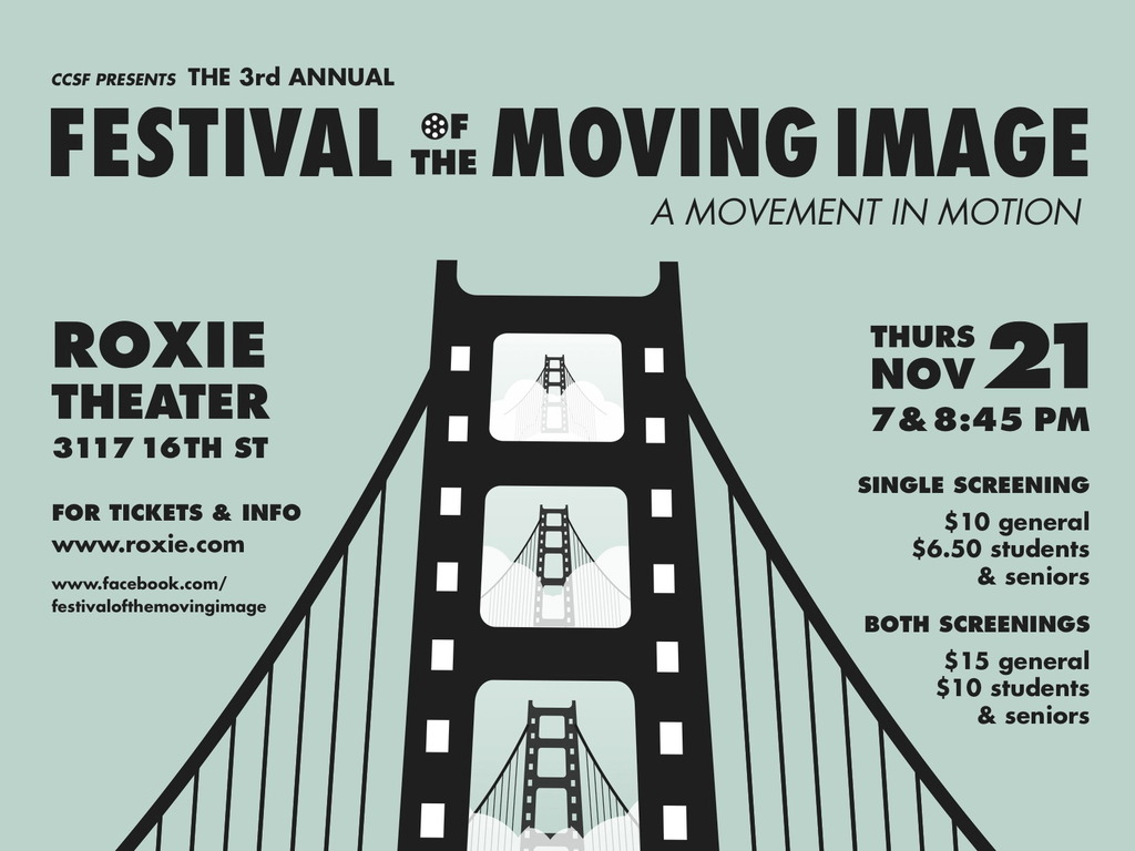 3rd Annual Festival of the Moving Image's video poster