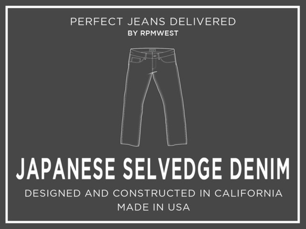 RPMWEST: Specialty Japanese Selvedge Denim Jeans's video poster