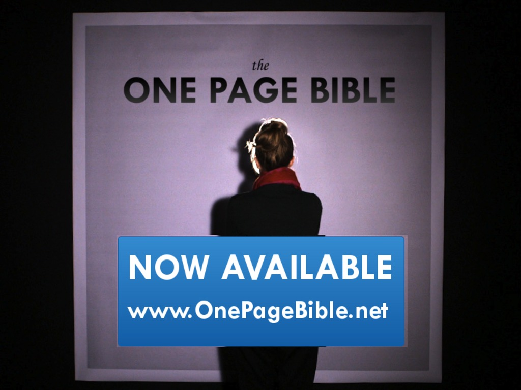 One Page Bible - Hang the Entire Bible on Your Wall's video poster
