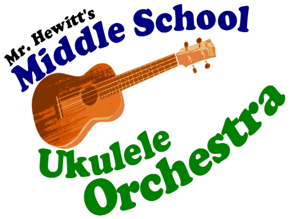 Mr. Hewitt's Middle School Ukulele Orchestra's video poster
