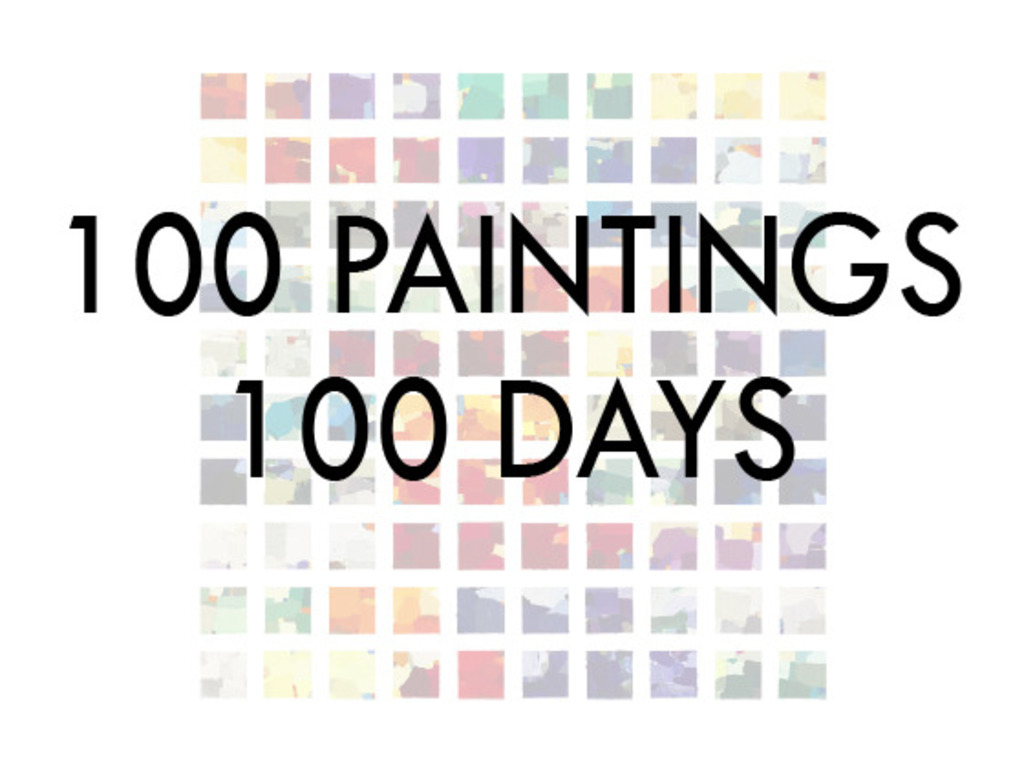 100 PAINTINGS 100 DAYS: Limited Edition Prints's video poster