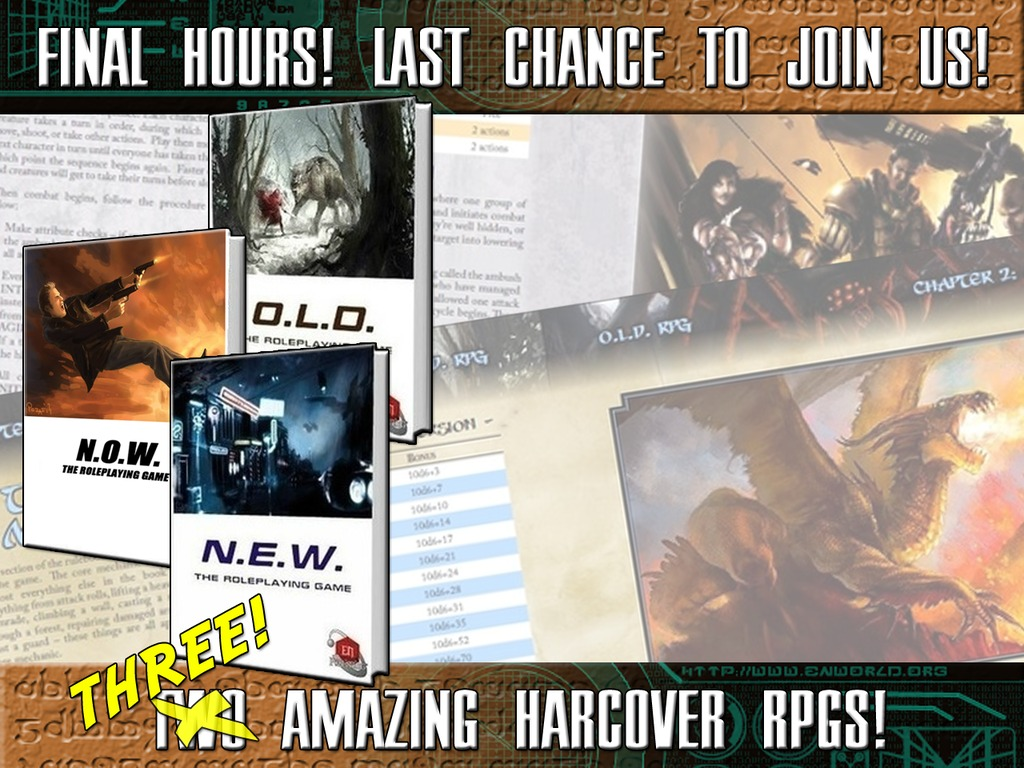 What's O.L.D. Is N.E.W. - Two Crunchy Roleplaying Games!'s video poster