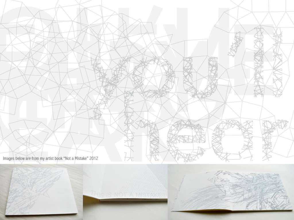 Everything You Hear (working title), an artist book's video poster
