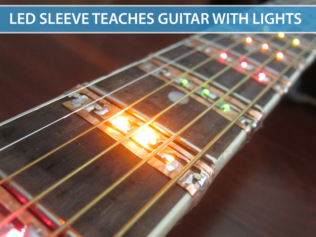 LED Sleeve for Learning Chords and Songs on the Guitar's video poster