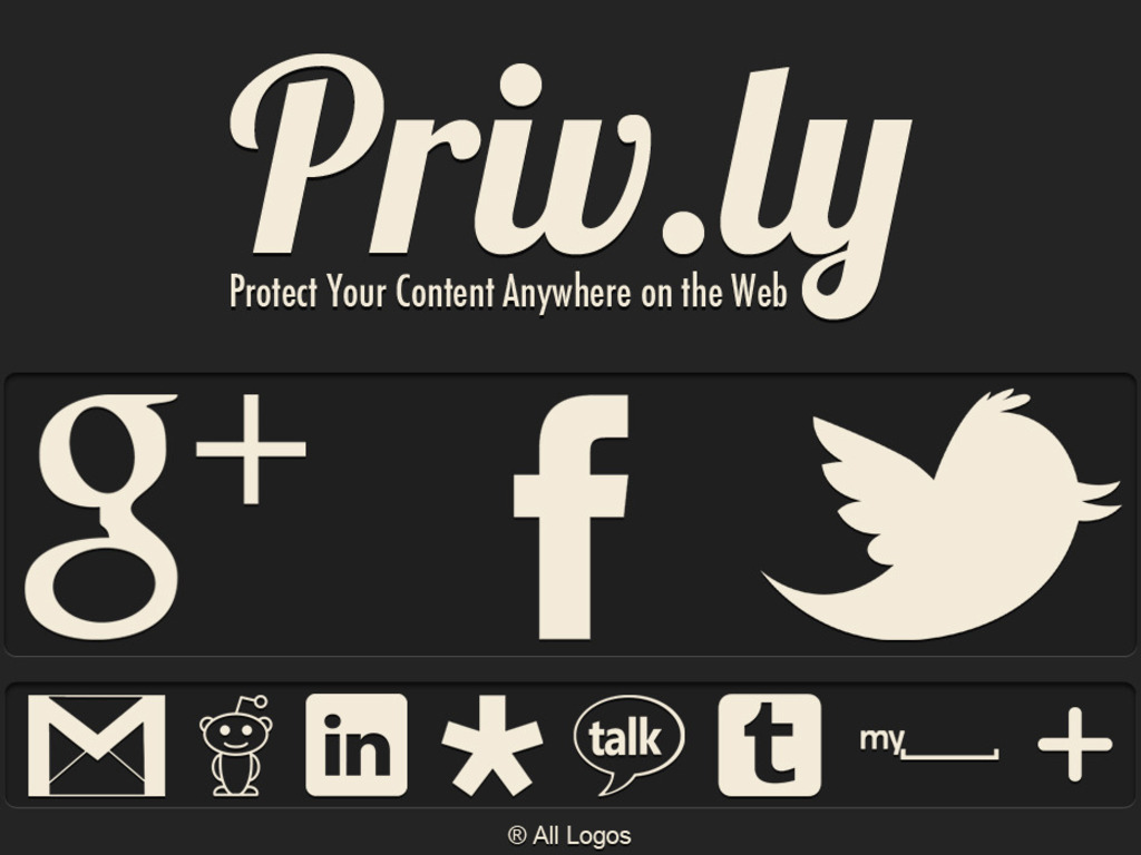 Protect Your Content Anywhere on the Web: Privly's video poster
