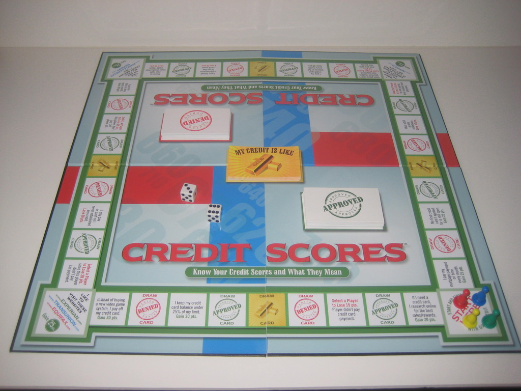 "Credit Scores™ Board Game ""MY CREDIT IS GOOD""'s video poster"