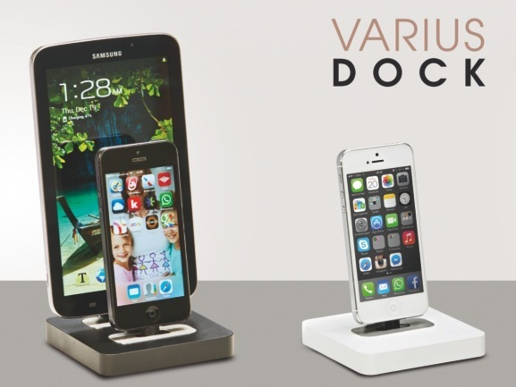 VARIUS DOCK for iPod, iPhone, iPad, iPad Mini and Android's video poster