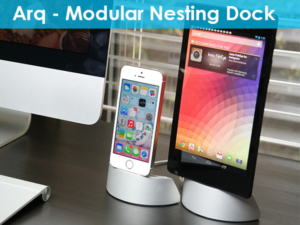 Arq Dock: iPhone 5S 5C 5 iPad iPad Mini S4 S5 Note Android's video poster