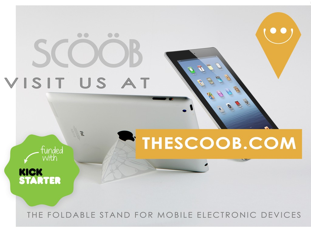 Scööb - the stand for your tablet's video poster