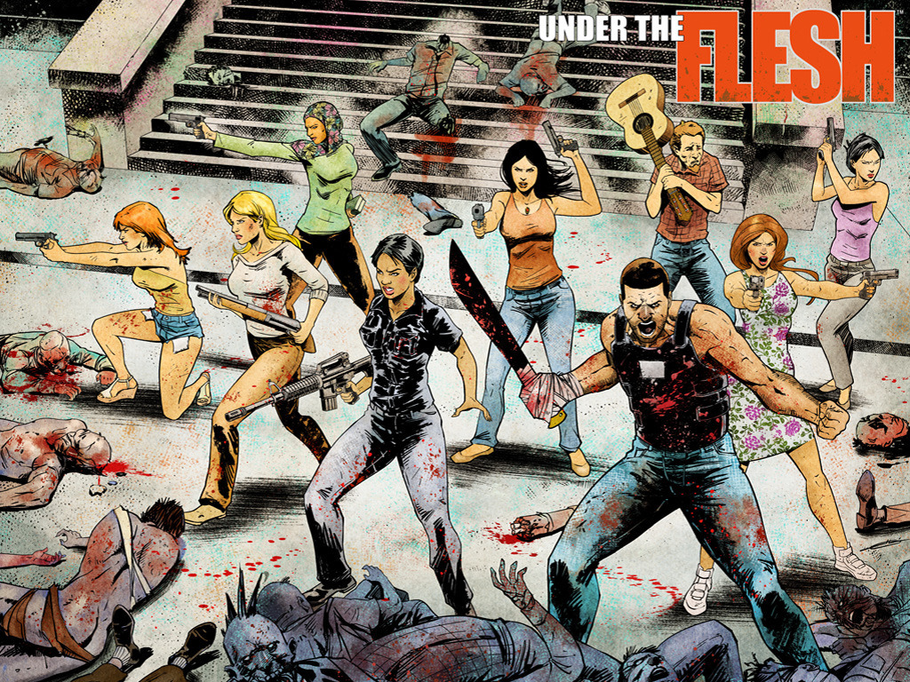 UNDER THE FLESH #1 - Grindhouse Zombie Comic Mashup!'s video poster