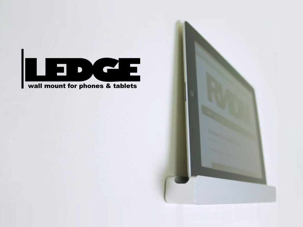 LEDGE: A Minimal Wall-Mount for Tablets & Smartphones's video poster