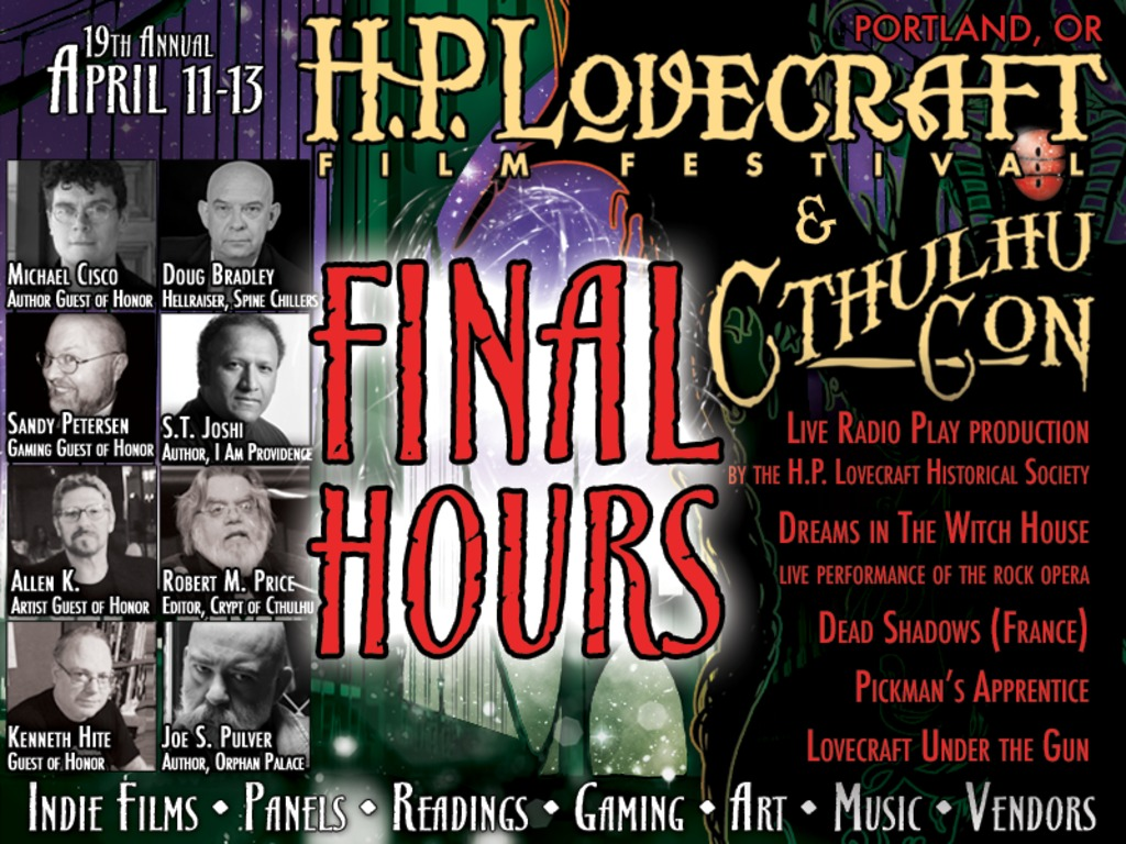 H.P. Lovecraft Film Festival & CthulhuCon 2014 Portland, OR's video poster