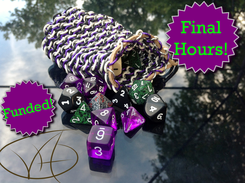 Custom Chainmail Dice Bags by Vitality Handmade Designs's video poster
