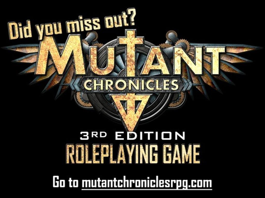 Mutant Chronicles 3rd Ed. RPG's video poster
