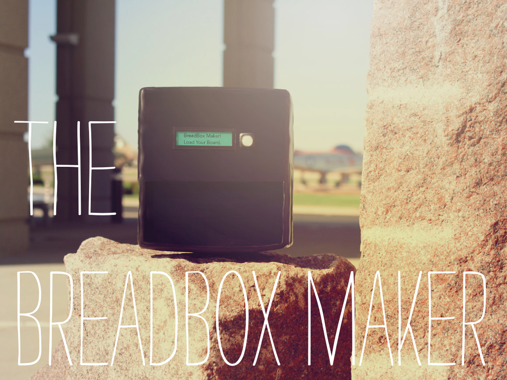 BreadBox: The Desktop Circuit Board Maker (Canceled)'s video poster