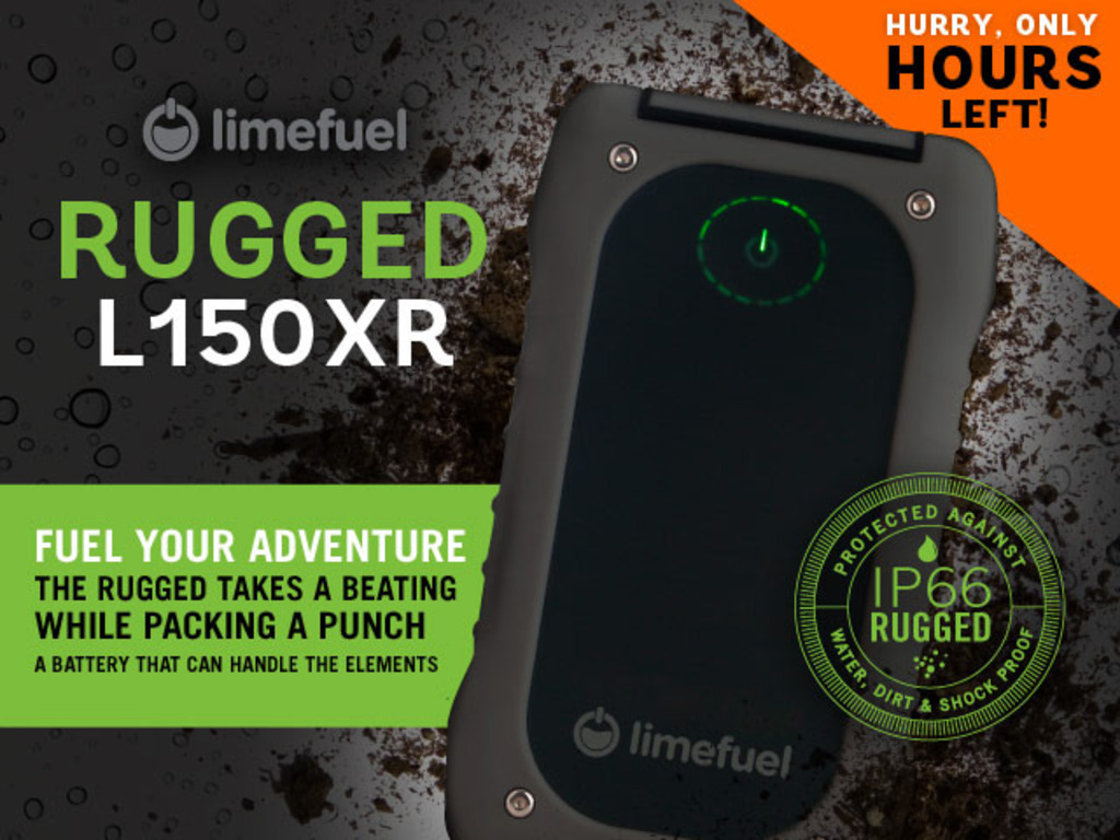 External USB Battery Pack- Limefuel IP66 Rugged 15000mAh's video poster