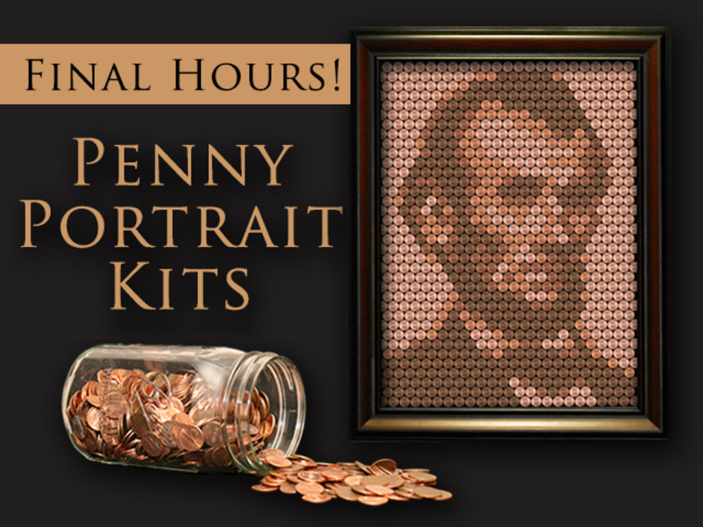 Penny Portrait - Create a portrait of Abe from old pennies's video poster