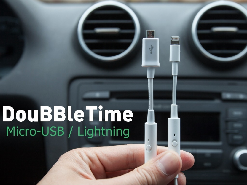 DouBBleTime USB charging cable-Full Battery in 1/2 the Time's video poster