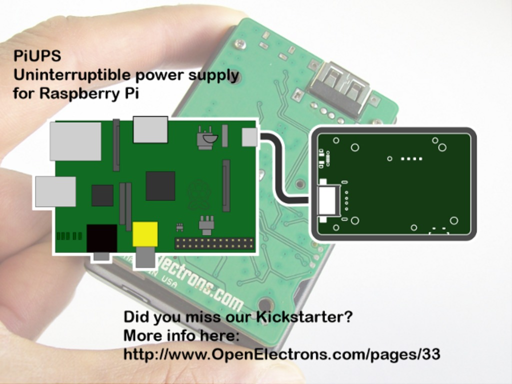 PiUPS - Uninterruptible power supply for Raspberry Pi's video poster