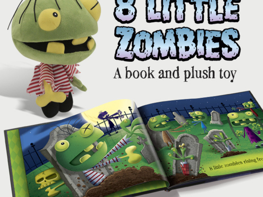 Eight Little Zombies - A zombie kids book, plush and print's video poster