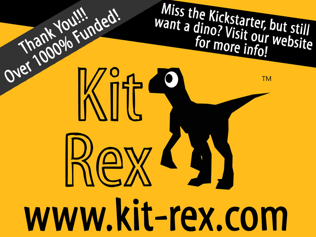 KitRex: the 3D paper velociraptor that you build yourself!'s video poster