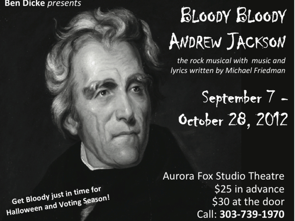 Bloody Bloody Andrew Jackson's video poster