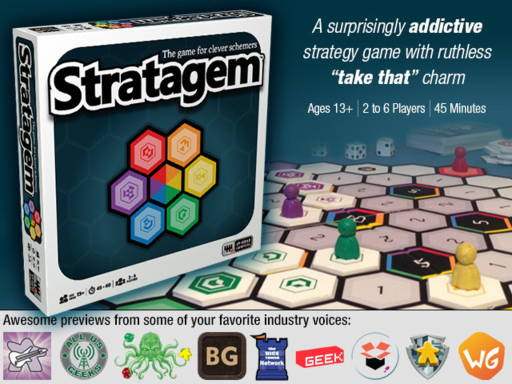 Stratagem, an Abstract Strategy Board Game's video poster
