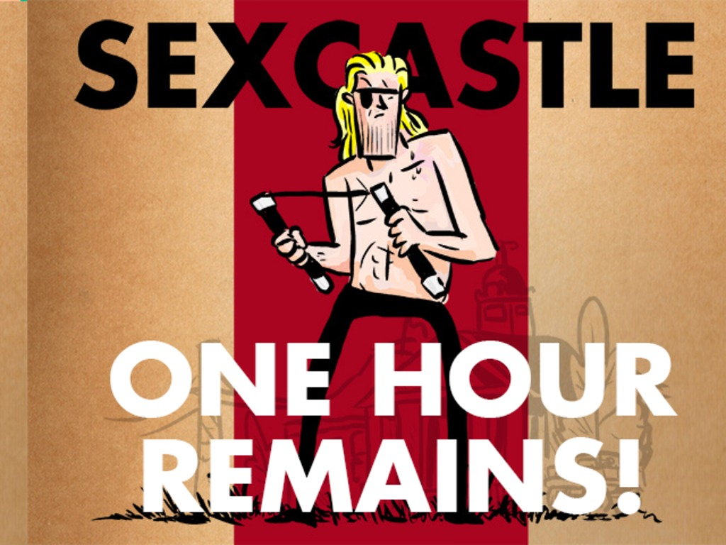 Sexcastle: A comic homage to 80s Action Movies's video poster