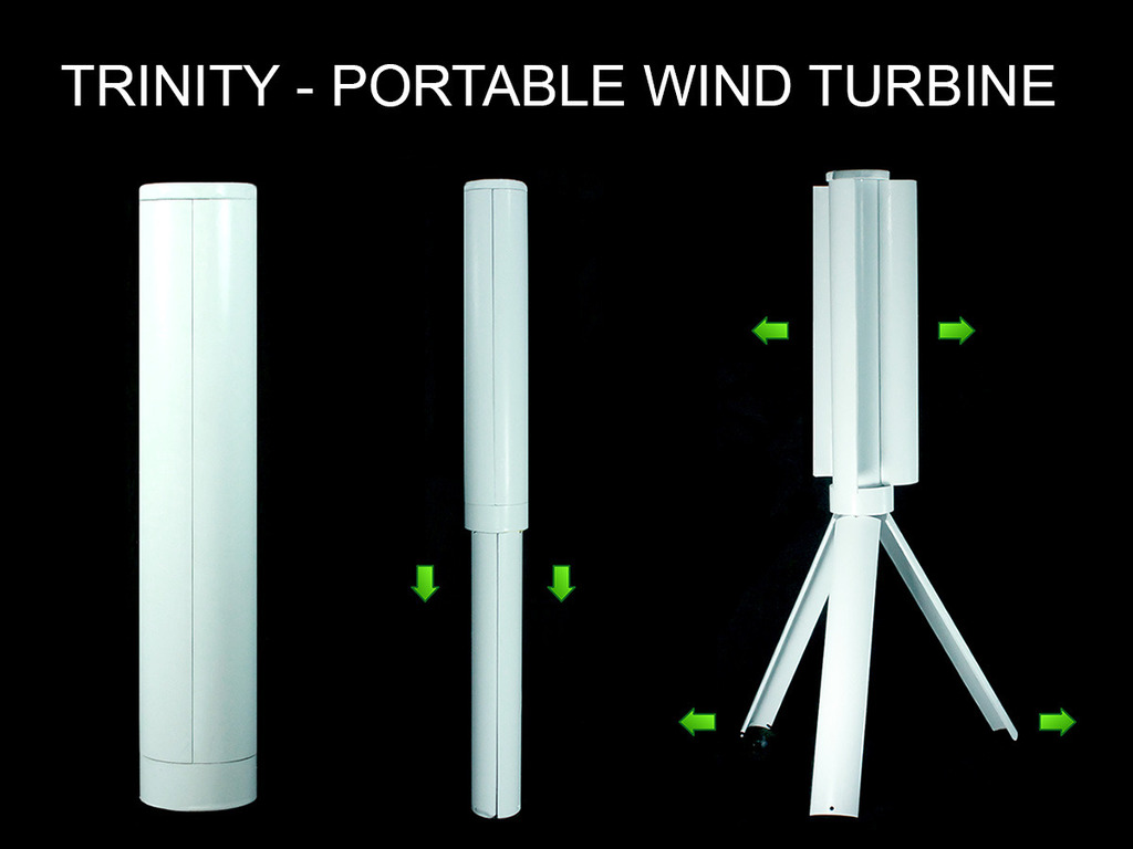 Trinity - The Portable Wind Turbine Power Station's video poster