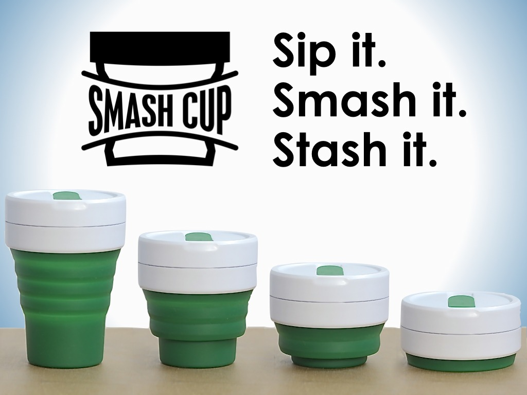 SMASH CUP: A reusable coffee cup that fits in your pocket's video poster