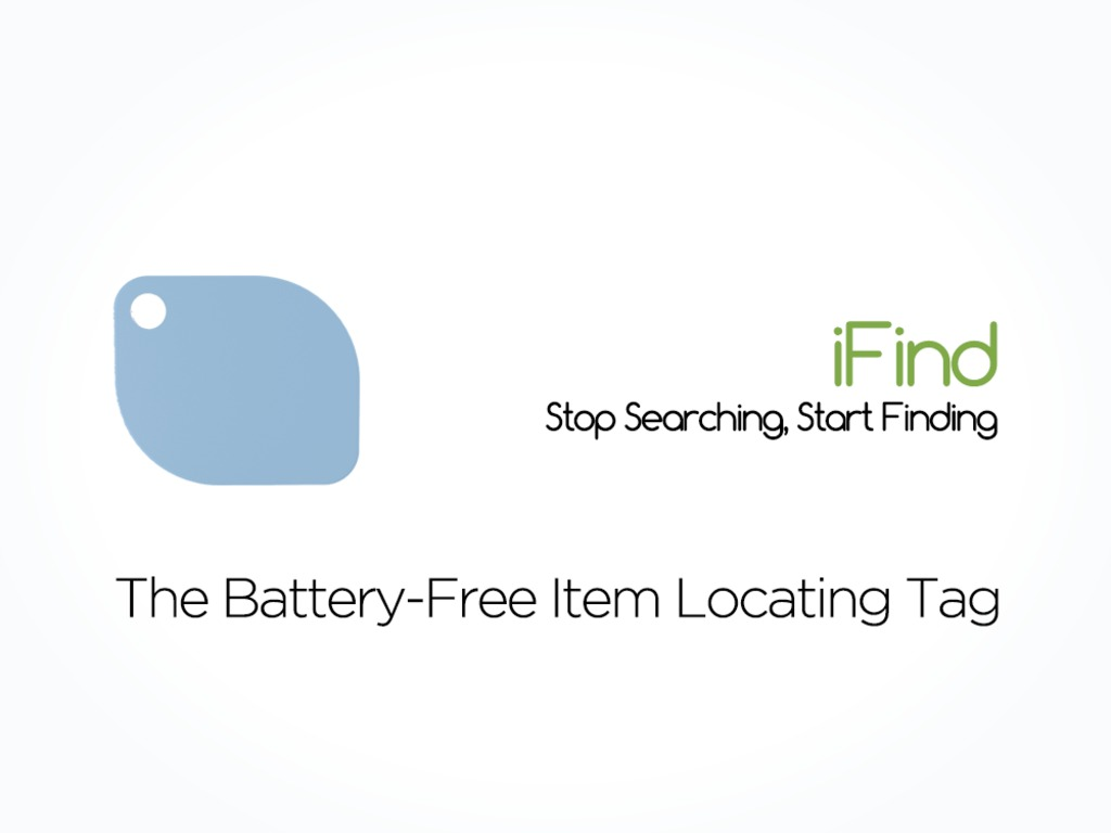 iFind - The World's First Battery-Free Item Locating Tag's video poster
