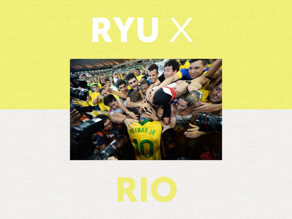 RYU X RIO's video poster