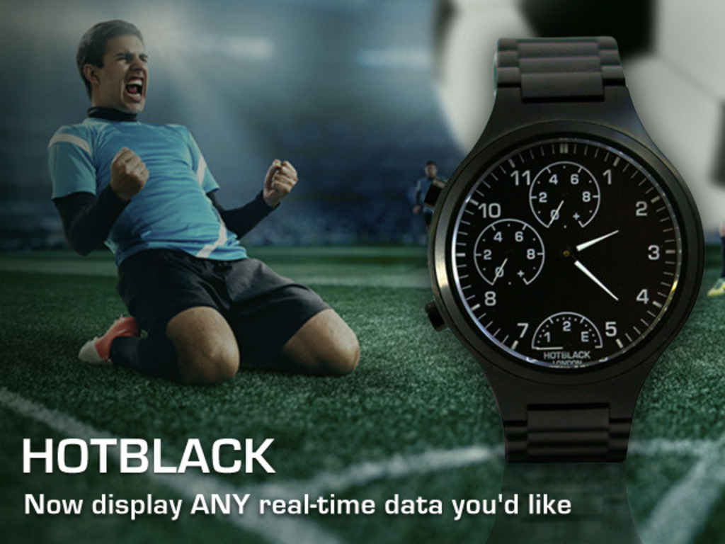 HotBlack: The premium smartwatch that shows your custom data's video poster