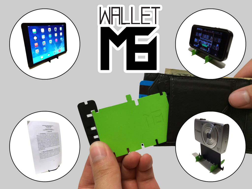 WalletM8: Pocket Smartphone, Tablet, Tripod, & Typing Stand's video poster