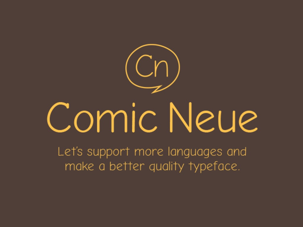 Comic Neue's video poster