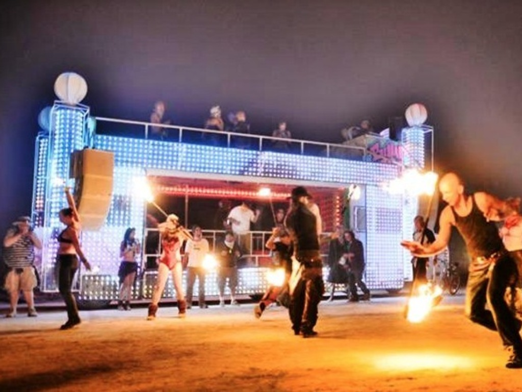 The Bump Bed - Double Decker Art Car - Burning Man 2014!'s video poster