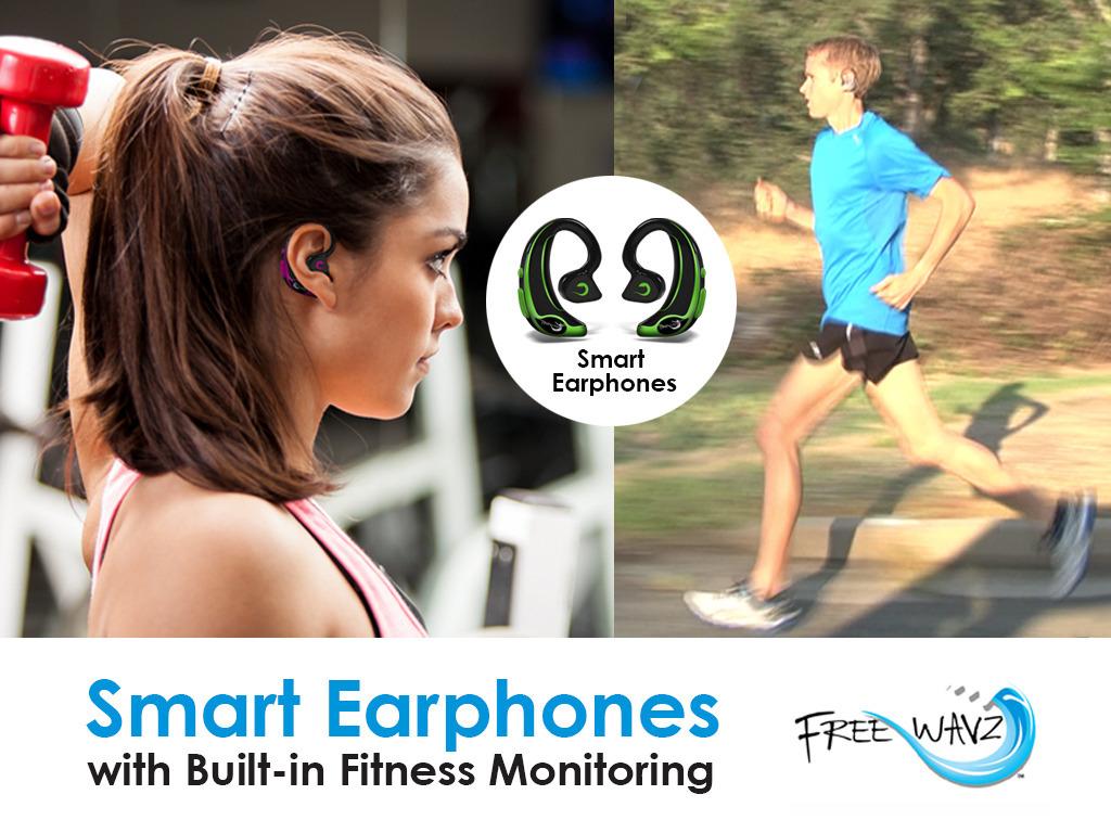 FreeWavz:  Smart Earphones with Built-in Fitness Monitoring's video poster