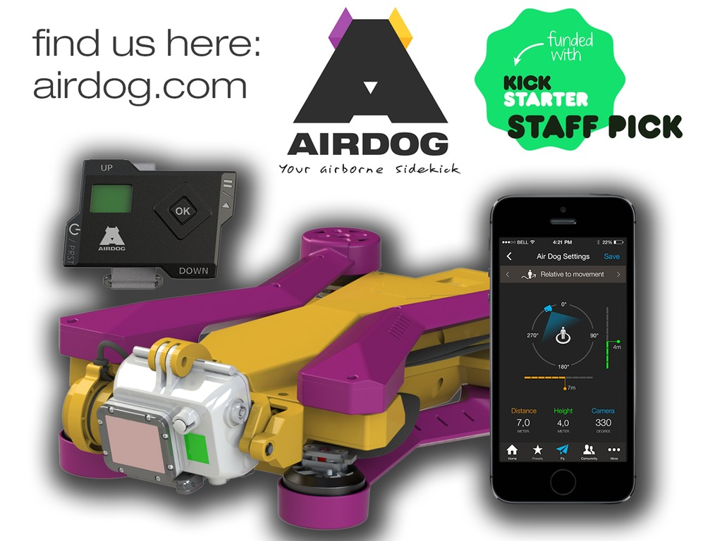 AirDog: World's First Auto-follow Drone for GoPro Camera's video poster